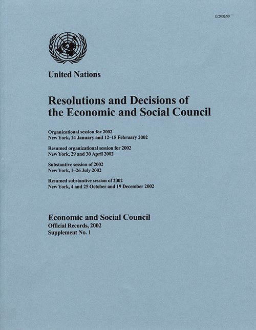 EOR 2002 SUPP1 RES DEC ECOSOC