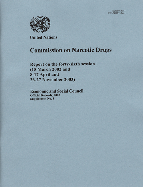 EOR 2003 SUPP8 NARC DRUGS R1