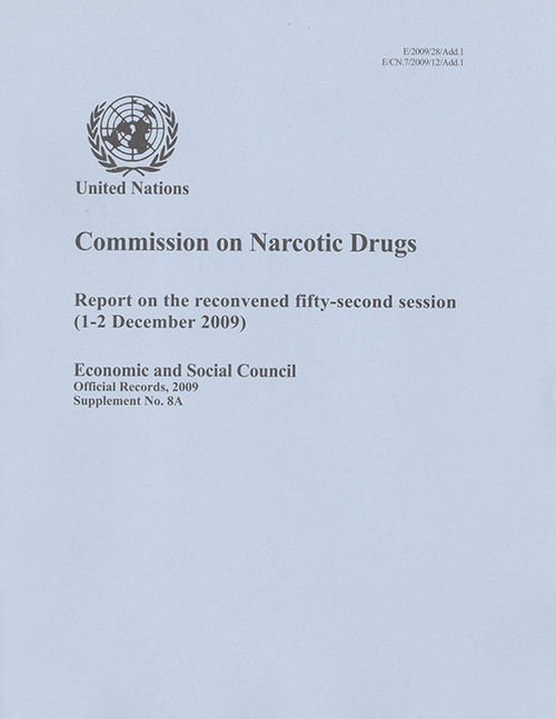 EOR 2009 SUPP8A NARC DRUGS RECON