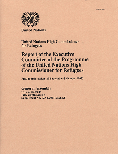 GAOR 58TH SUPP12A EXEC COMM UNHCR