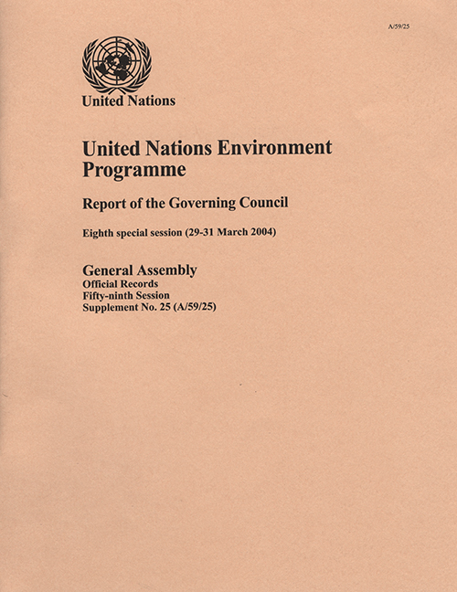 GAOR 59TH SUPP25 GOV COUNCIL UNEP