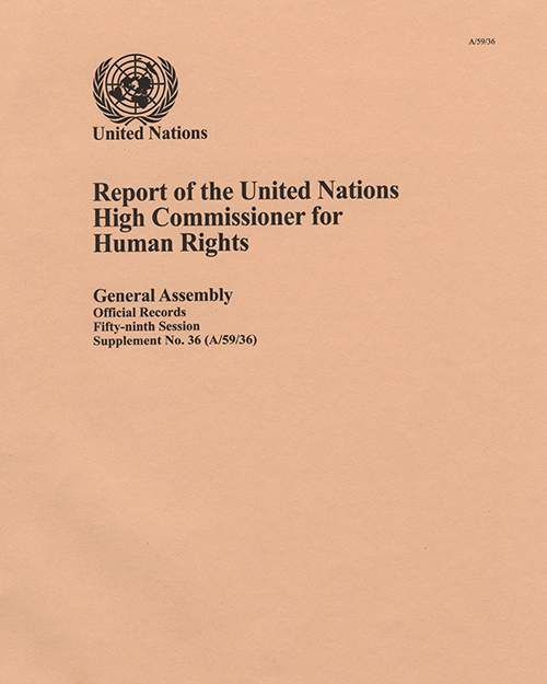 GAOR 59TH SUPP36 OHCHR RPT