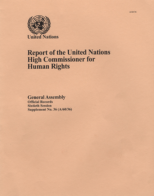 GAOR 60TH SUPP36 OHCHR RPT