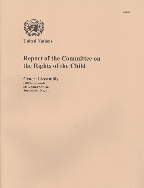 GAOR 63RD SUPP41 RIGHTS OF CHILD