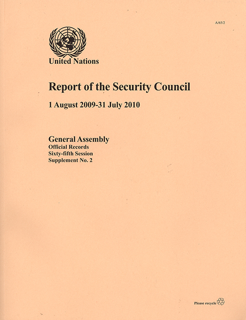 GAOR 65TH SUPP2 SECURITY COUNCIL