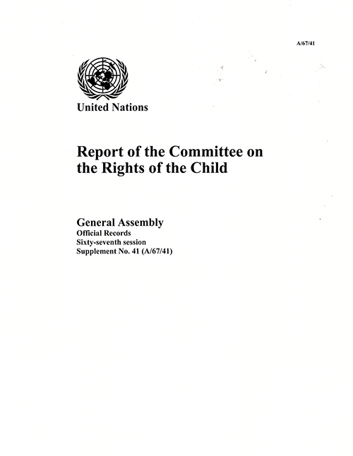 GAOR 67TH SUPP41 RiGHTS OF CHILD