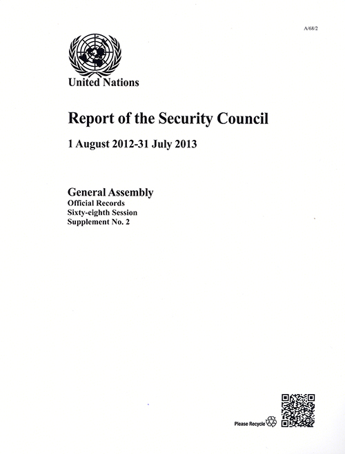 GAOR 68TH SUPP2 SECURITY COUNCIL