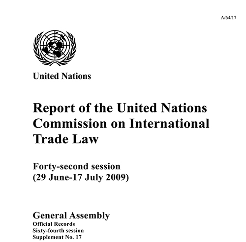 GAOR 64TH SUPP17 UNCITRAL RPT