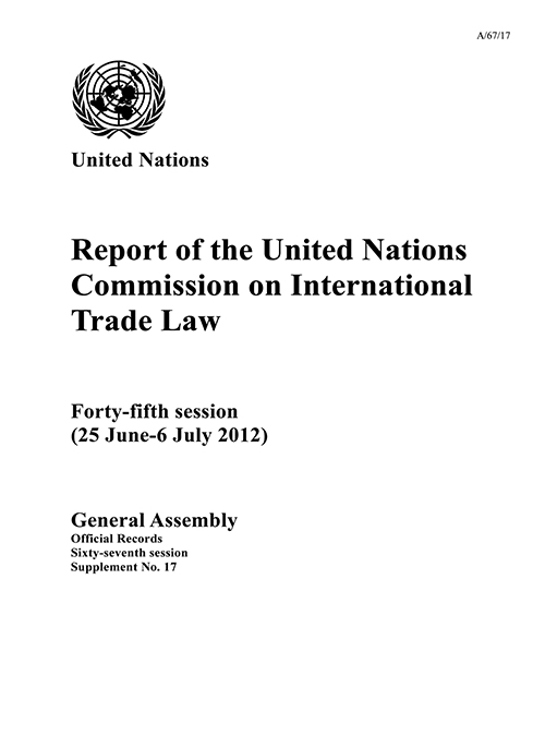 GAOR 67TH SUPP17 UNCITRAL RPT