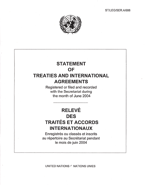 STATEMENT OF TREATIES JUN 2004