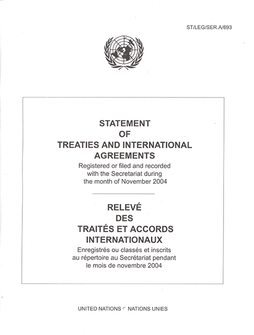 STATEMENT OF TREATIES NOV 2004