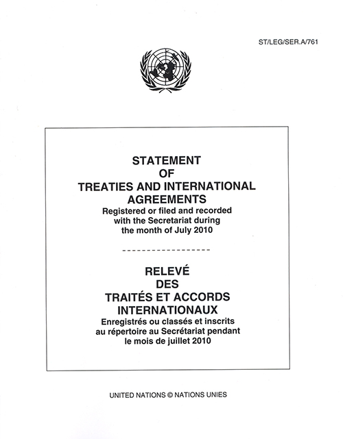 STATEMENT OF TREATIES JUL 2010