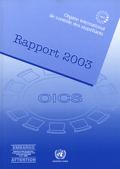 RAPPORT ORGANE INTL CONTROLE 2003
