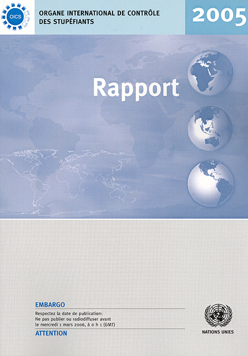 RAPPORT ORGANE INTL CONTROLE 2005
