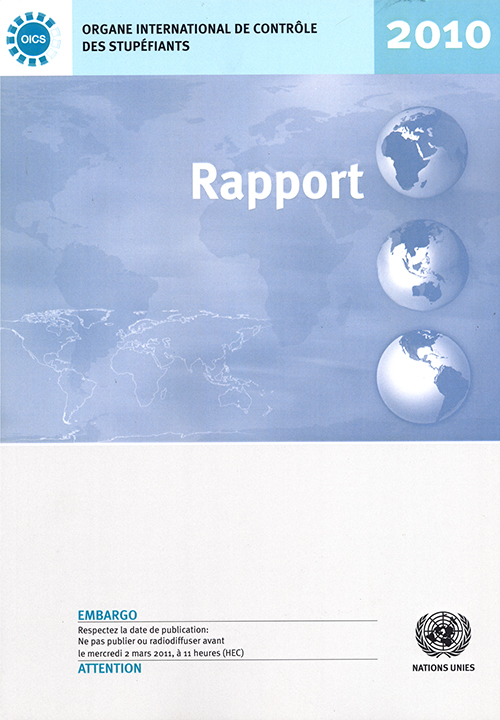 RAPPORT ORGANE INTL CONTROLE 2010