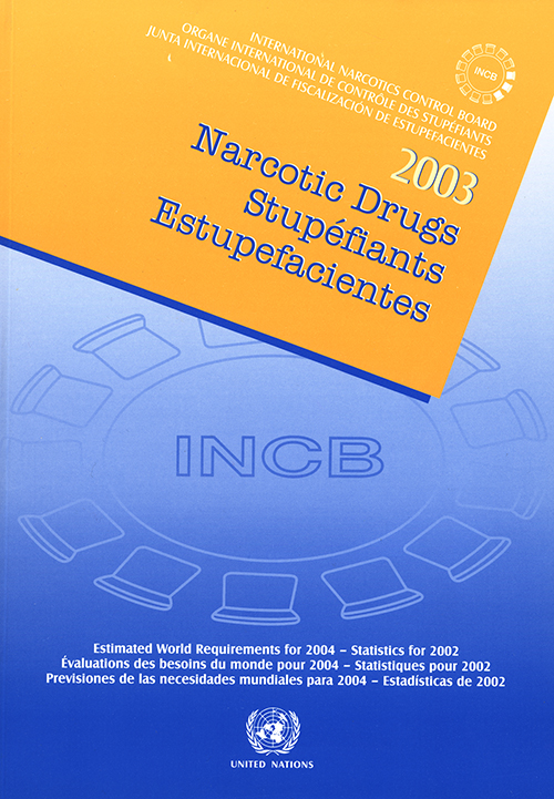 NARC DRUGS EST WORLD REQ 2004