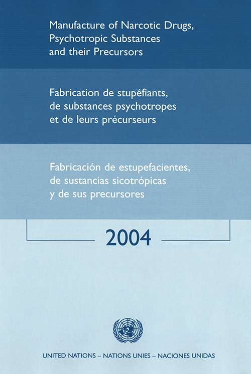 MANUFACTURE NARCOTIC DRUGS 2004