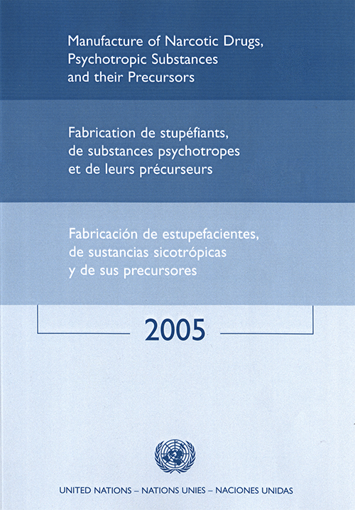MANUFACTURE NARCOTIC DRUGS 2005