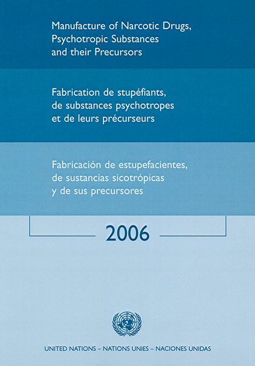 MANUFACTURE NARCOTIC DRUGS 2006