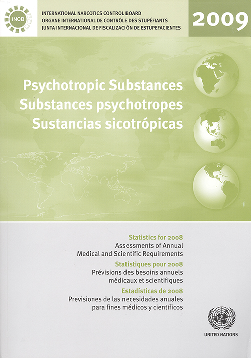 PSYCHOTROPIC SUBSTANCES STAT 2008