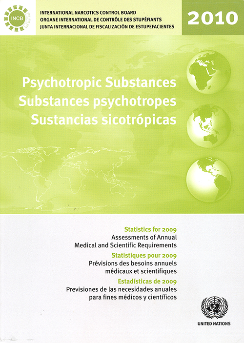 PSYCHOTROPIC SUBSTANCES STAT 2009