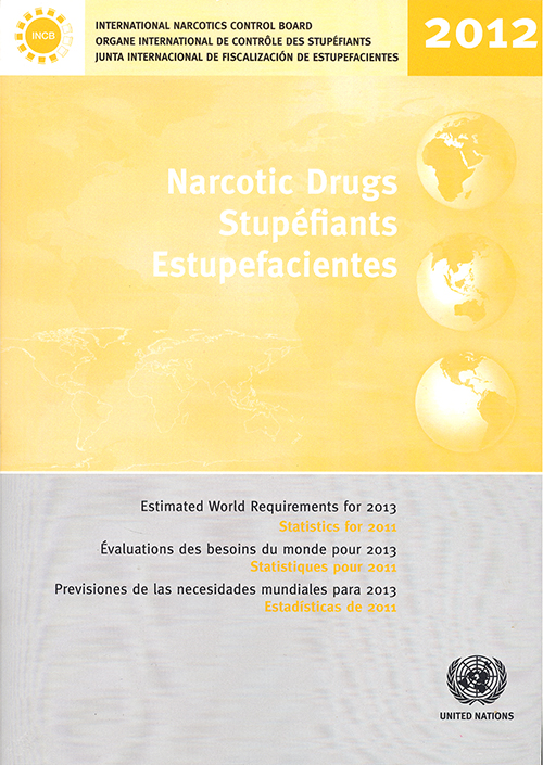 NARC DRUGS EST WORLD REQ 2013