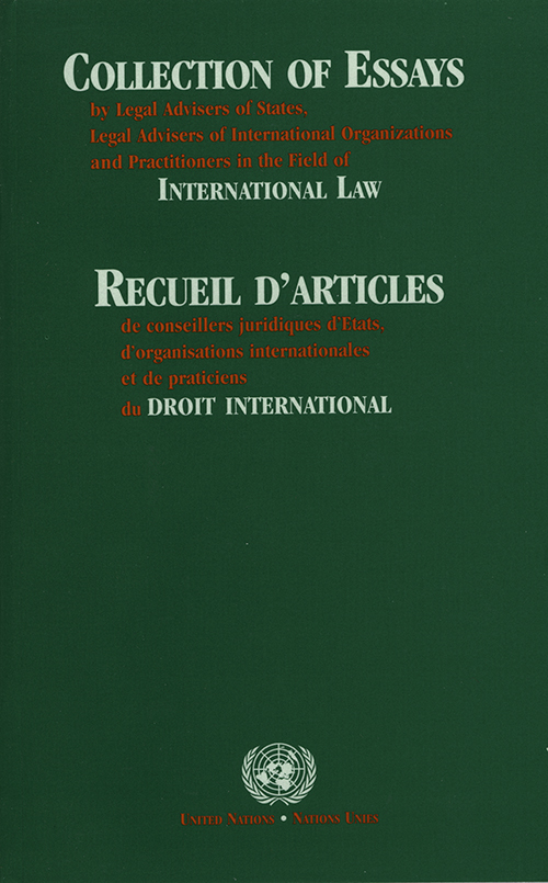 COLLECTION OF ESSAYS BY LEGAL ADV