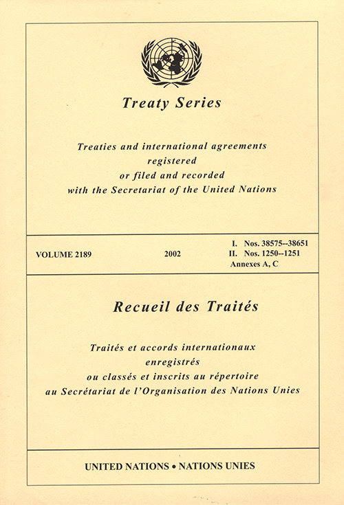 TREATY SERIES 2189 I 38575-38651