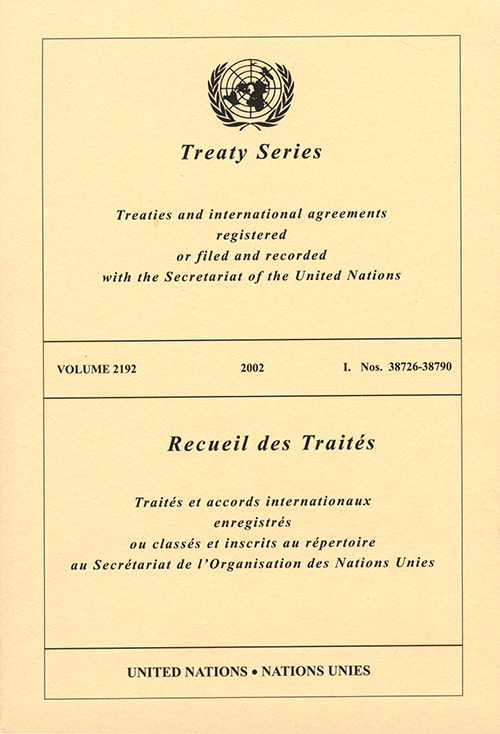 TREATY SERIES 2192 I 38726-38790