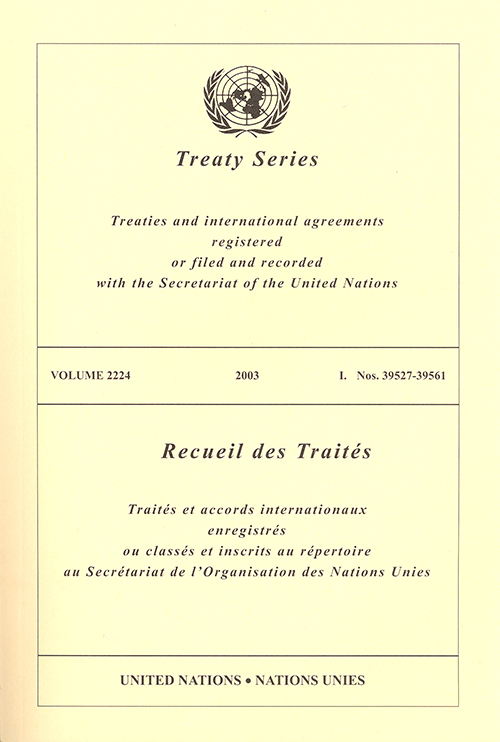 TREATY SERIES 2224 I 39527-39561