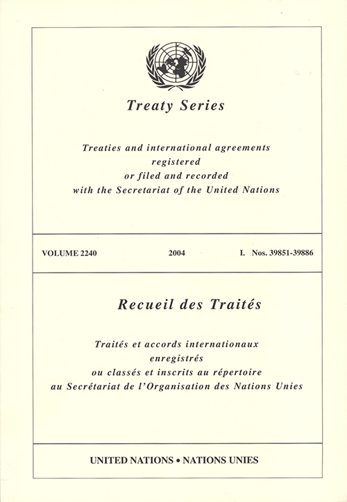 TREATY SERIES 2240 I 39851-39886