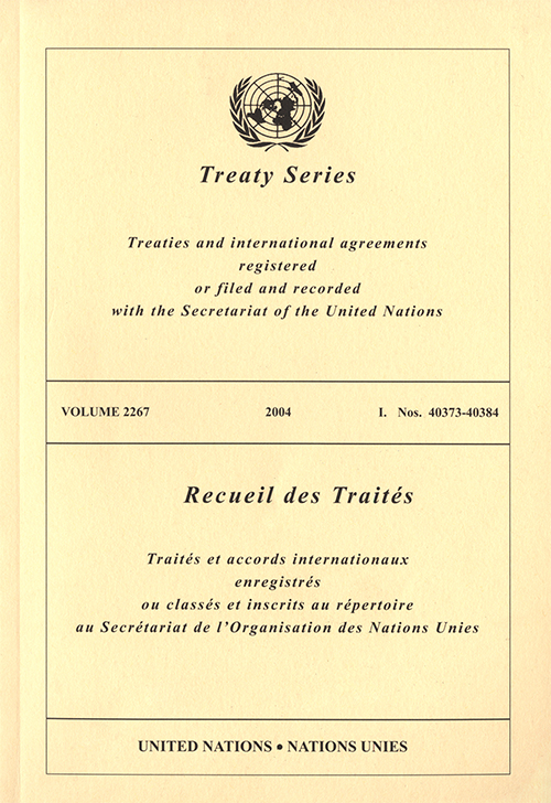 TREATY SERIES 2267 I 40373-40384