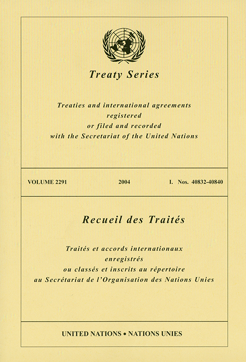 TREATY SERIES 2291 I 40832-40840