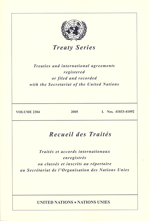 TREATY SERIES 2304