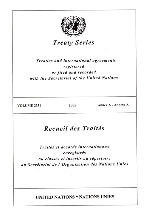 TREATY SERIES 2331