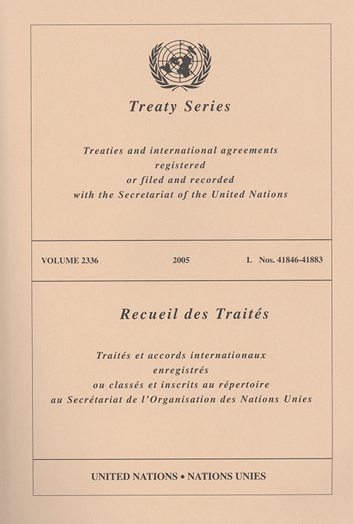 TREATY SERIES 2336