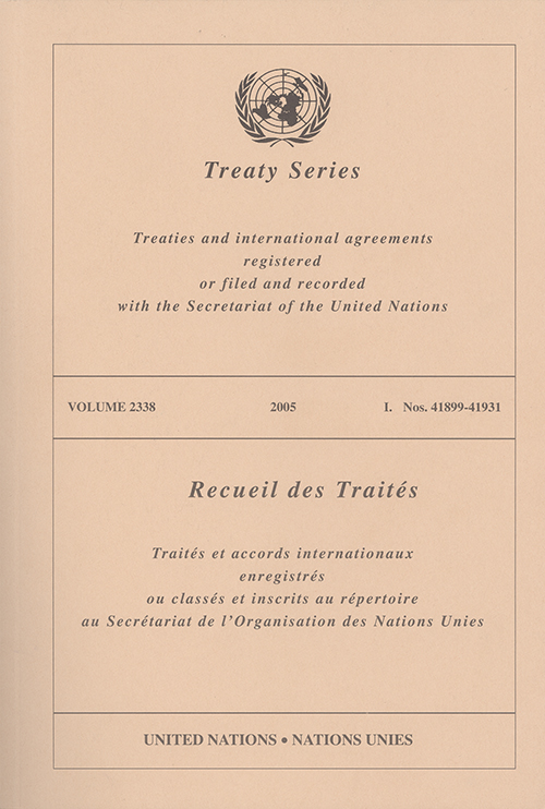 TREATY SERIES 2338