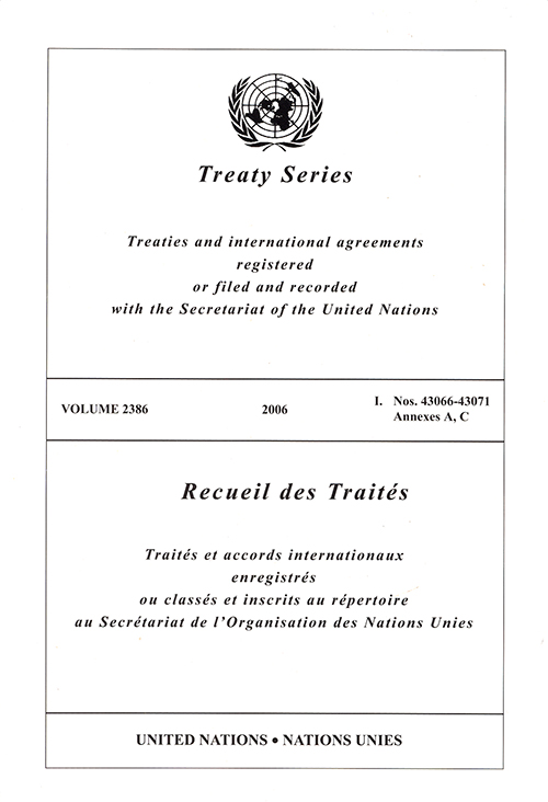 TREATY SERIES 2386