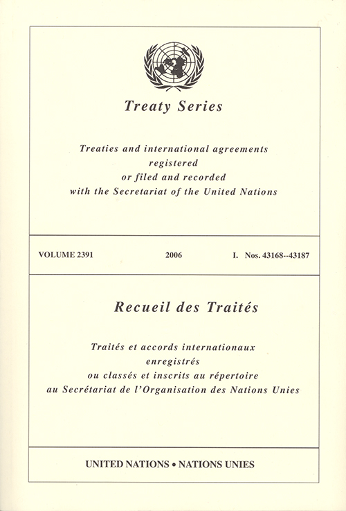 TREATY SERIES 2391