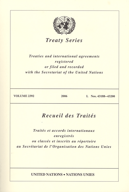 TREATY SERIES 2392