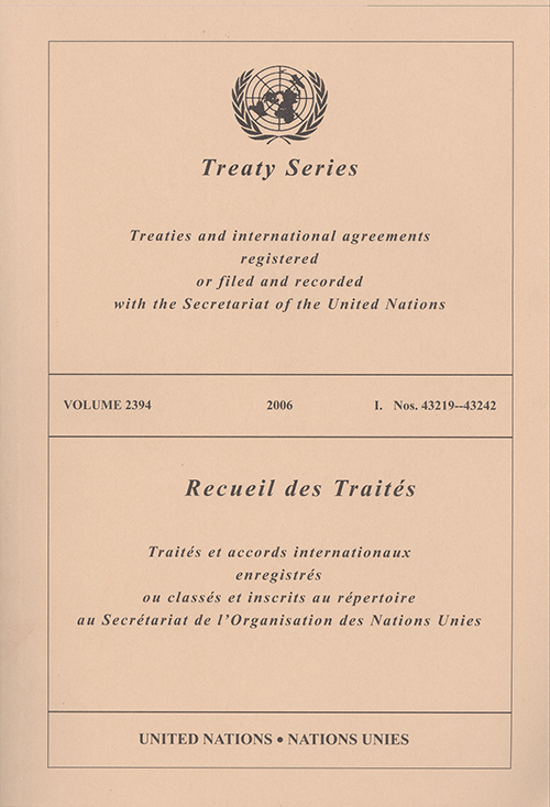 TREATY SERIES 2394
