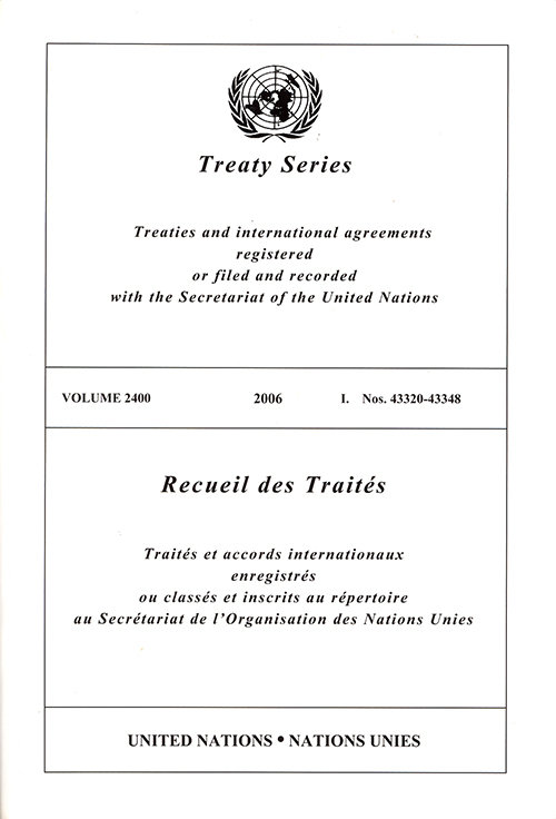 TREATY SERIES 2400