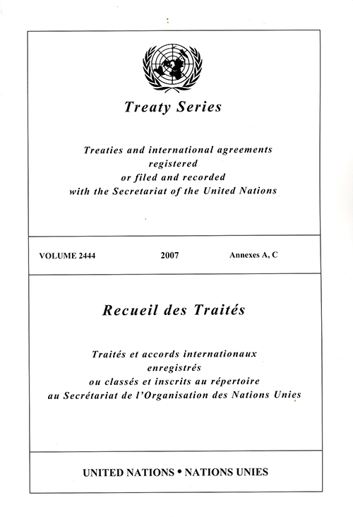 TREATY SERIES 2444