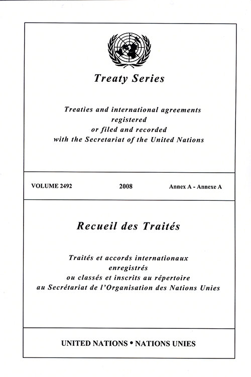 TREATY SERIES 2492