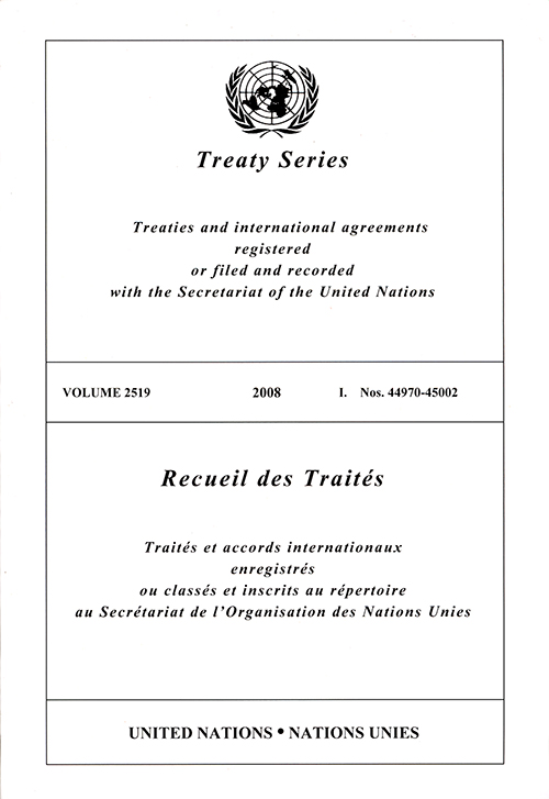 TREATY SERIES 2519