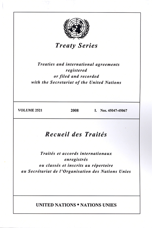 TREATY SERIES 2521