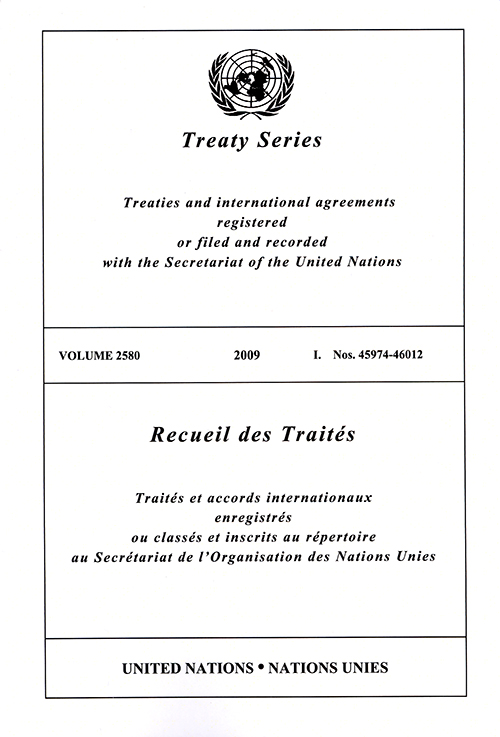 TREATY SERIES 2580 I 45974-46012