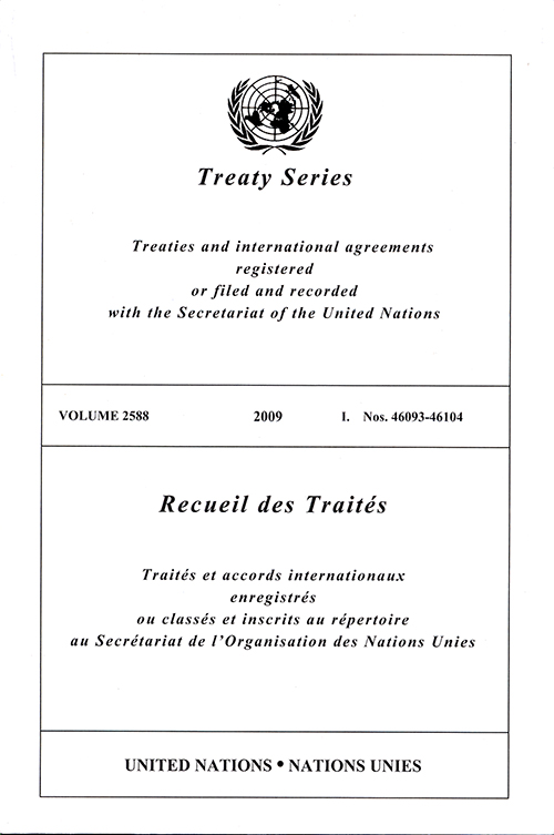 TREATY SERIES 2588 I 46093-46104