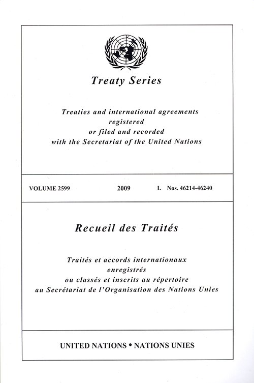 TREATY SERIES 2599 I 46214-46240