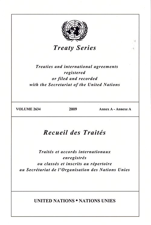 TREATY SERIES 2634 ANNEX A